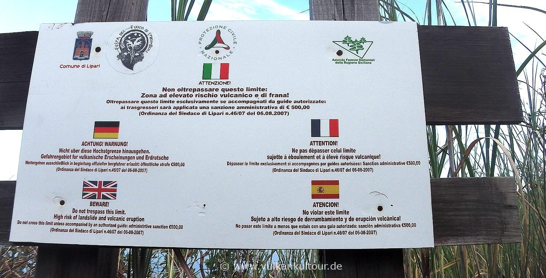 Stromboli - ohne Bergführer drohen 500 € Strafe! - Für höhere Auflösung klicken