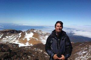 Ulli beim Abstieg vom Teide zum Pico Viejo - Teneriffa